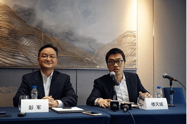 Co-founders of Pony.ai Peng Jun (Left) and Lou Tiancheng (right)