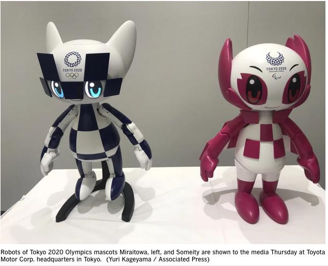 The mascot robots Tokyo Olympics
