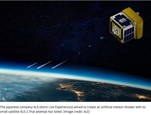 Man-made meteor shower