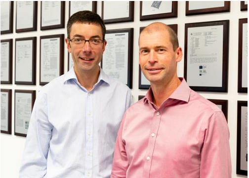 Co-founders of PragmatIC Richard Price, CTO (left) and Scott White, CEO (right)